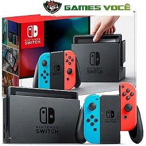 Nintendo SWITCH 32GB SEM JOGO COlor 32gb 1 ano de garantia