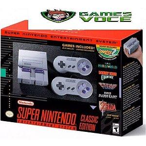 Super Nintendo Classic Edition - 2 Controles Conexão HDMI - USB 21 Jogos na Memória