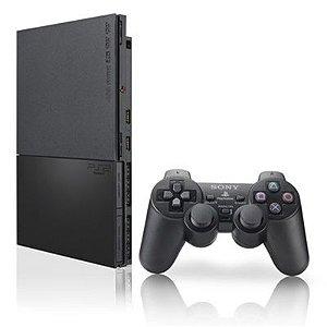 Playstation 2 Desbloqueado Modelo Slim com 2 controles + memory card+10 joguinhos