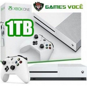 Xbox One S - 1TB - OEM -por apenas R$1999 Cor Branca ganha 1 jogo de brinde (disponível loja física).