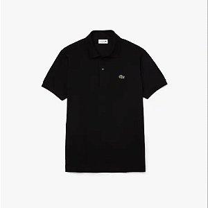 Camisa Polo Lacoste Classic Fit Preta