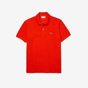 Camisa Polo Lacoste Classic Fit Laranja