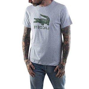 Camiseta Lacoste Sport c/ Logo Verde - Cinza