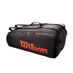 Raqueteira Wilson Esp Tour X12 Preto Vermelho
