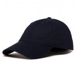 Boné Lacoste 100% Algodão - Logo Lateral - Azul Marinho