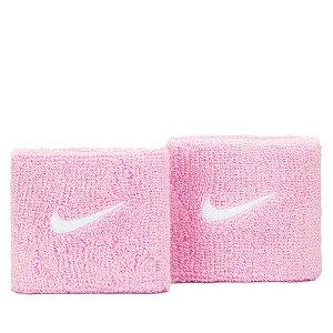 Munhequeira Curta Swoosh Wristband Nike Rosa Claro