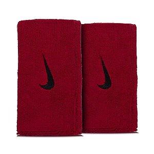 Munhequeira Nike Swoosh Wristabands Doublewide Vinho Único