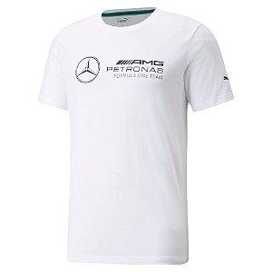 Camiseta Puma Mercedes Mapf1 Amg Logo Grande Petronas - Branca
