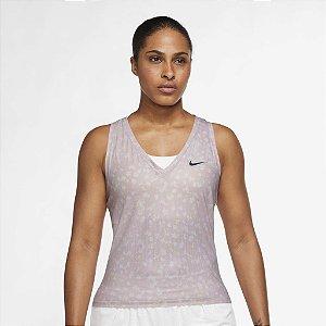 Regata Nike Court Dry Fit Victory Feminina Rosa Claro