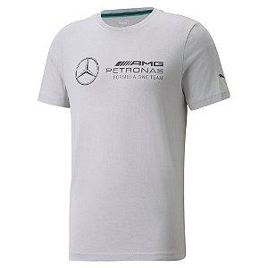 Camiseta Puma Mercedes MAPF1 AMG Petronas Logo Grande Cinza