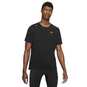 Camiseta Nike M DF Rise 365 SS Cinza Preta