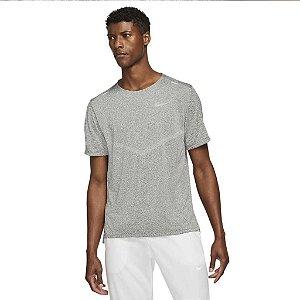 Camiseta Nike M DF RISE 365 SS - cinza