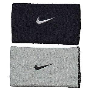 Munhequeira Comprida Nike Dri-fit Dupla Face - Preto e Cinza