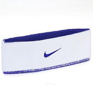 Testeira Nike Dri-Fit Dupla Face Azul e Branco
