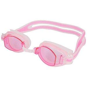 Oculos New Shark Trasnparente Rosa Claro