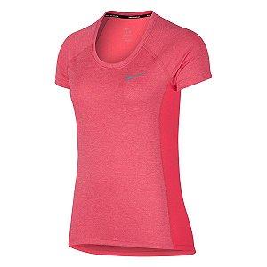 Camiseta Dry Miler Top Crew Nike Feminina Rosa