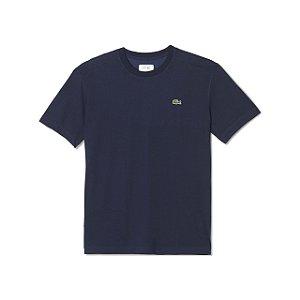 Camiseta Lacoste Masculina ALGODÃO COM POLIÉSTER - Azul Marinho