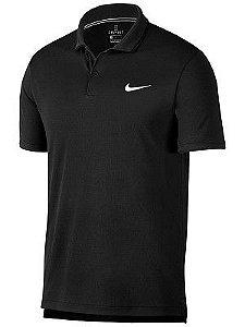 Polo Nike Court Dry Team Preta