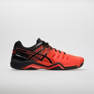 Tênis Asics Gel Resolution 7 Laranja e Preto
