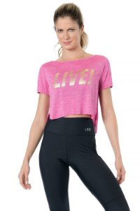 Blusa Cropped Essential Live! Pink - P