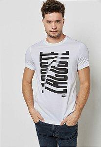 Camiseta Lacoste Sport Com Logo Grande - Branca