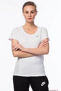 Camiseta Dry Miler Top Crew Nike Feminina Branco