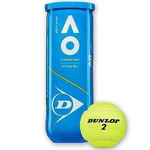 Bola de Tênis Dunlop Australian Open - Tubo com 3 Bolas