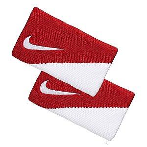Munhequeira Comprida Nike Dri-Fit V/B - Vermelho e Branco