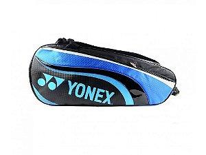 Raqueteira Yonex X6 Preto e Azul