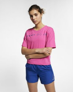 Camiseta Cropped Miller SS Surf Nike Rosa