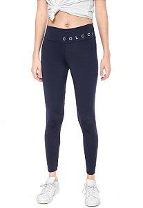 Calça Legging Colcci Fitness Lisa Azul-marinho