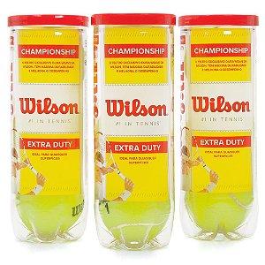 Bola de Tênis Wilson Championship Extra Duty Pack com 3 Tubos
