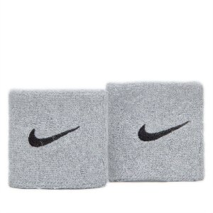 Munhequeira Nike Swoosh Cinza com 2 uni. -  Curta