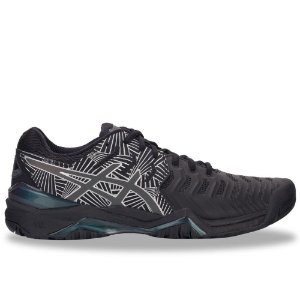 Tênis Asics Gel Resolution 7 Lite Show Preto e Prata
