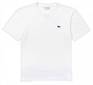 Camiseta Lacoste Masculina Gola V -100% ALGODÃO