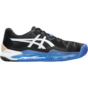 Tênis Asics Gel Resolution 8 Clay Preto e Azul
