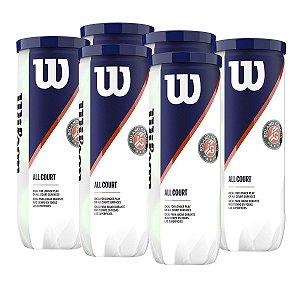 Bola de Tênis Roland Garros Pack C/ 6 Tubos - Wilson