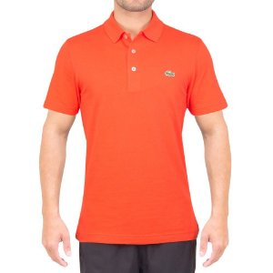 Camisa Polo Lacoste Sport Tennis Regular Fit Lisa - Laranja