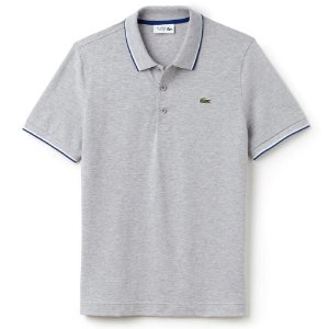 Camisa Polo Lacoste Sport Tennis Regular Fit Lisa - Cinza c/ listra