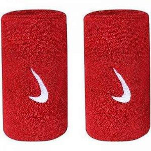 Munhequeira Nike Comprida Swoosh 2UN. - Vermelho