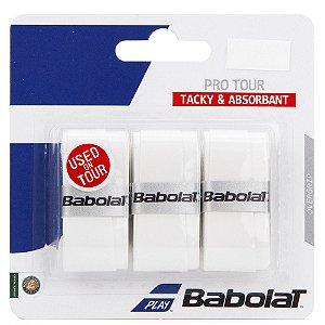 Overgrip Babolat Pro Tour X3 - Branco