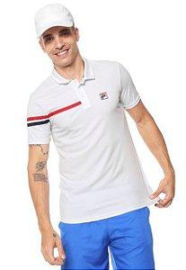 Camisa Polo Fila Bands - Branca