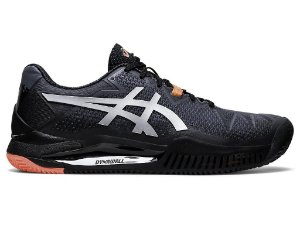 Tenis Asics Gel Resolution 8 Clay L.E. - Preto e Laranja