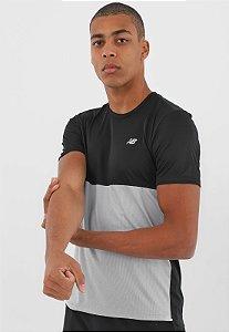 Camiseta New Balance Performance - Preta e Cinza