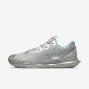 Tênis Nike Court Air Zoom Vapor Cage 4 - Cinza/Azul