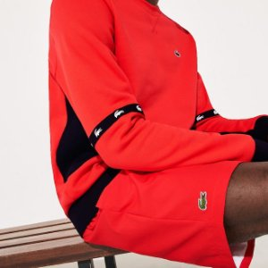 Shorts Lacoste SPORT 100% Poliéster - Vermelho