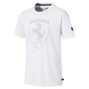 Camiseta Puma Ferrari Big Shield - Branca