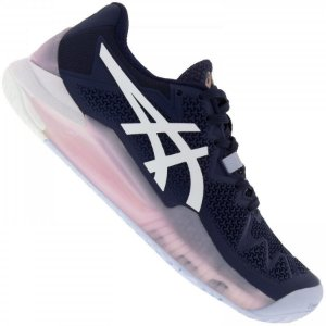 Tênis Asics Gel Resolution 8 All Court - Azul Marinho e Roxo