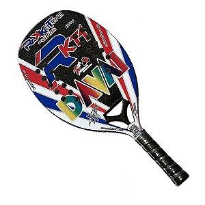 Raquete Beach Tennis Rakkettone Davai Nikita Burmakin 2020 - Preto