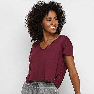 Camiseta Cropped Colcci - Bordo/Vinho